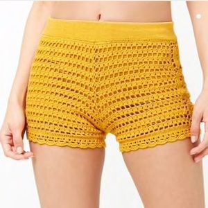 Forever 21 Scalloped Crochet Shorts